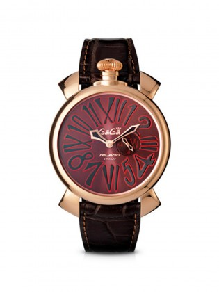 GAGA MILANO SLIM 46 MM GOLD PLATED