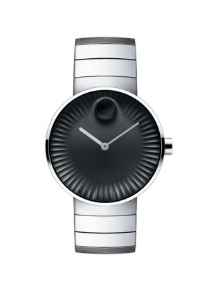 MOVADO BLACK DIAL STAINLESS DIAL MEN'S