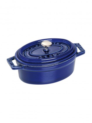 Staub posuda oval Dark blue 11 cm