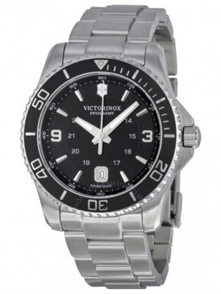 VICTORINOX SWISS ARMY MAVERICK BLACK DIAL MEN'S WATCH
