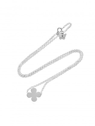 STERLING SILVER CLOVER NECKLACE