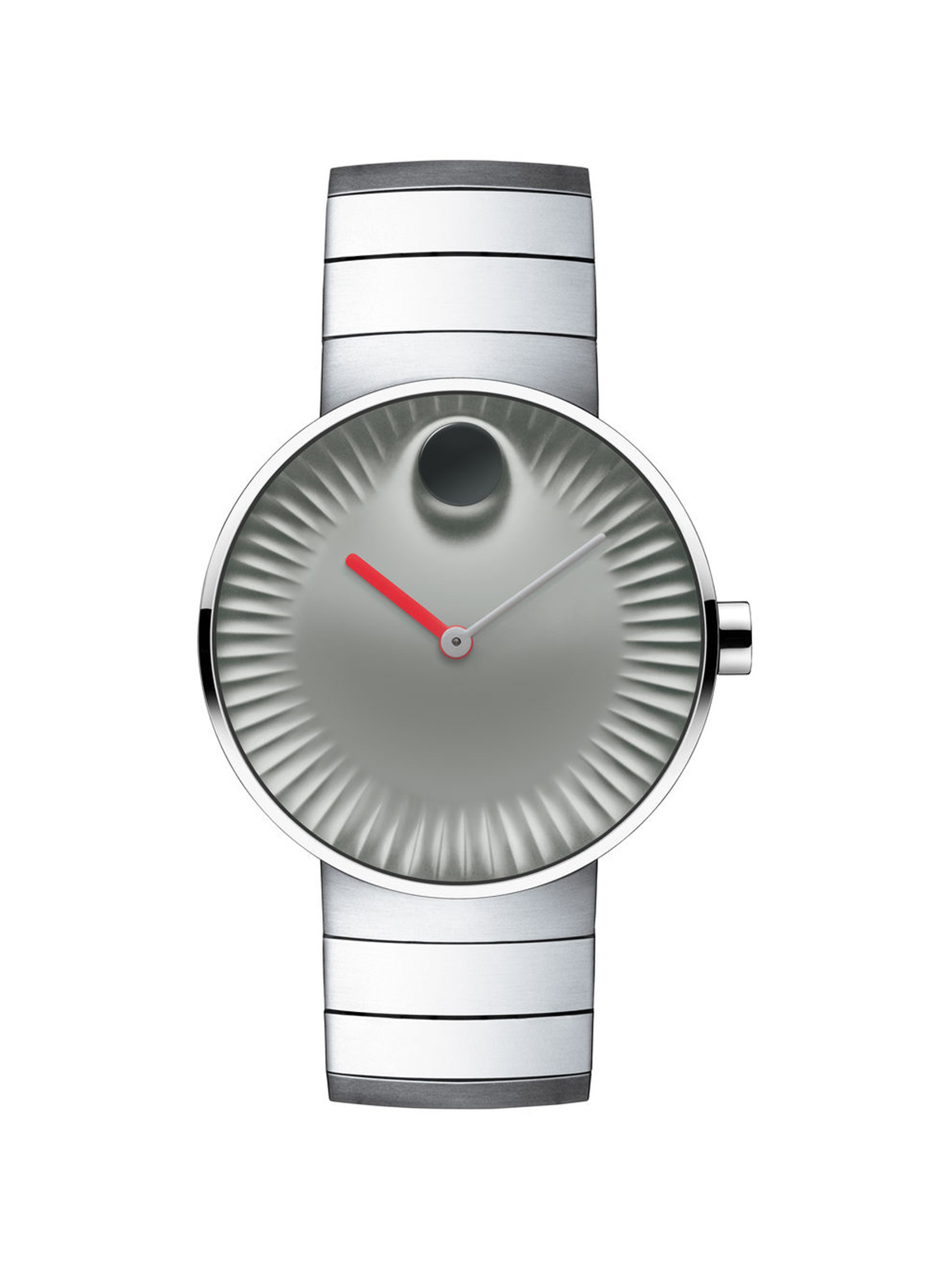 MOVADO EDGE GREY STAINLESS STEEL MEN'S WATCH