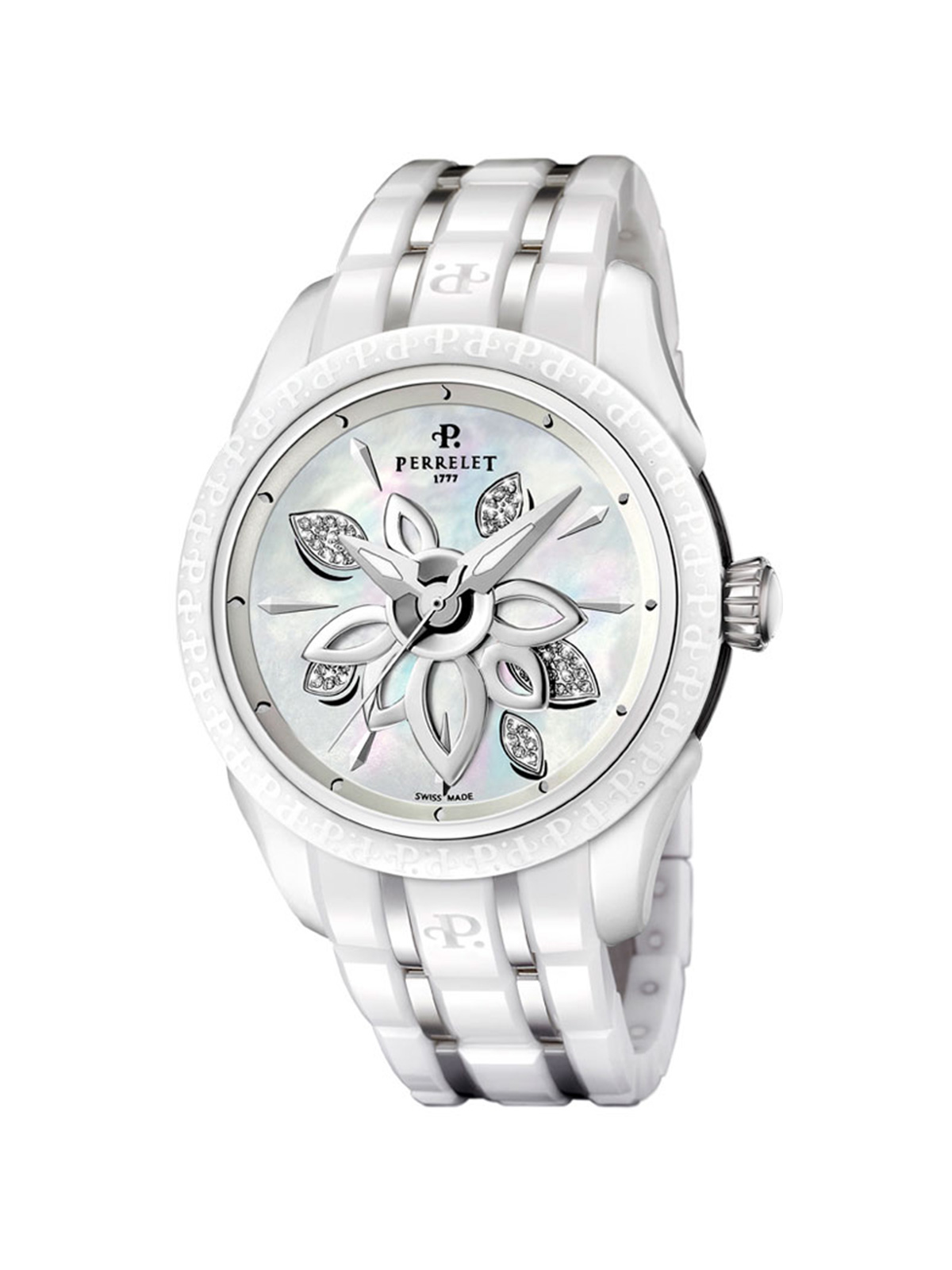 PERRELET DIAMOND FLOWER CERAMIC LADIES WATCH