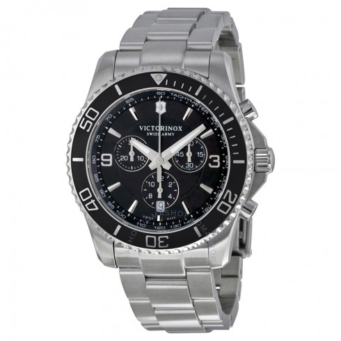 VICTORINOX SWISS ARMY MAVERICK SPORT CHRONOGRAPH BLACK DIAL STAINLESS STEEL MEN'S WATCH